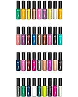 36 vernis tendance de haute qualité aux couleurs variées et assorties pour Nail Art par Kurtzy TM.