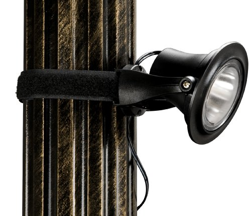 Paradise GL23143 Plastic Solar-Powered LED Gazebo Light with Remote Solar Panel, 4-Pack, Black