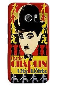 Omnam Charlie Chaplin City Lights Printed Designer Back Cover Case For HTC 10