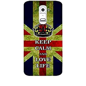 Skin4gadgets Keep Calm and LOVE LIFE - Colour - UK Flag Phone Skin for LG G2