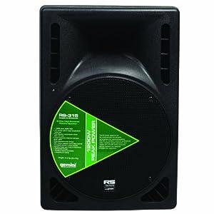 """Gemini RS-315 Professional DJ 15"""" 1200W High Power 2-Way Passive PA Loudspeaker"""