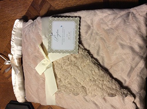 "Payton Collection Reversible Sherpa Baby Blanket ""Payton Beige"". 30x40 in Size. - 1"