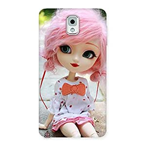 Cute Pink Doll Back Case Cover for Galaxy Note 3
