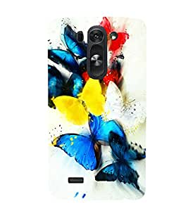 printtech Colored Butterfly Animated Back Case Cover for LG G3 Beat / LG G3 Vigor / LG G3s /LG g3s Dual