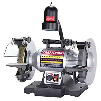 8 Variable Speed Bench Grinder 1 2 Hp Craftsman Power Bench Grinders Industrial