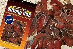 Biltong Jerky Sliced Original Flavor (HIGH PROTEIN, LOW CARBS) 16OZ BAG ** FREE SHIPPING **