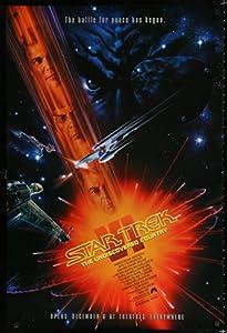 Star Trek VI advance 1sh '91 W. Shatner, Leonard Nimoy, art by John Alvin