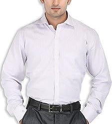 SPEAK Pink Stripes Cotton Mens Formal Shirt
