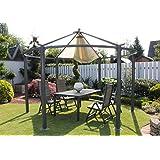 Dreams4Home Pavillon 'Capua X', Terrassenüberdachung, Pergola, Terrassendach, Sonnendach, Überdachung, Durchmesser: ca. 360 cm, Garten, in anthrazit