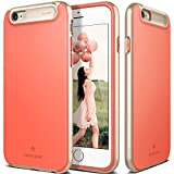 iPhone 6S Case, Caseology® [Glacier Series] Dual Layer Bumper Cover [Coral Pink] [Soft Matte Finish] for Apple iPhone 6S (2015) & iPhone 6 (2014) - Coral Pink