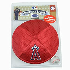 MLB LA Angels of Anaheim Clip Pro Kippah Yamaka Jersey Mesh Licensed Yarmulke by Emblem Source