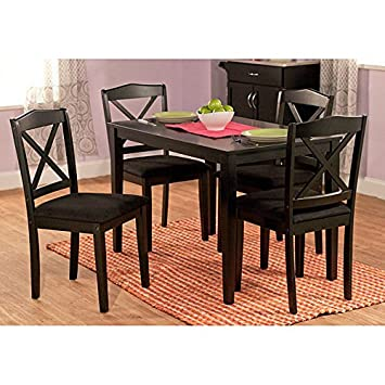 Metro Shop Black 5-piece Crossback Dining Set