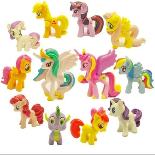 [Lot of 12Pcs My Little Pony Cake Toppers PVC Action Figures Kids Girl Toy Dolls] (My Little Pony Costume For Dogs)
