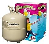 Helium für Luftballons als Partygag - HeliumStar® Heliumflasche mit 420 Litern Ballongas für max. 50 Ballons - Partyzubehör für verschiedenste Anlässe - Luftballongas besitzt großen Fun-Faktor