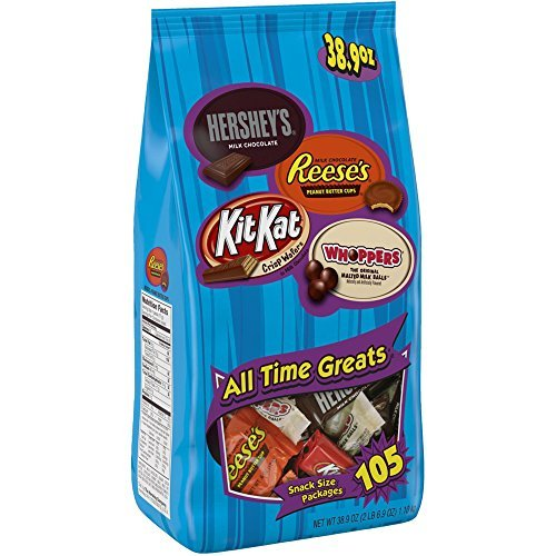 Hershey's All-Time Greats Snack-Size Assortment 38.9 Ounce (105-Count Bag) (Candy Bags For Chocolate compare prices)