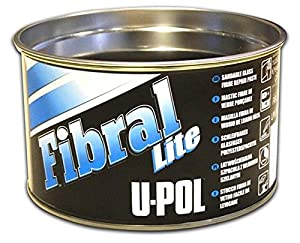 U-Pol Products 0766 FIBRAL LITE Lightweight Sandable Glass Fiber Repair Paste Filler - 1 Quart by U-Pol Products