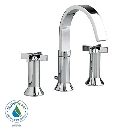 American Standard - Berwick 8 in. Widespread 2-Handle High-Arc Bathroom Faucet in Polished Chrome with Speed Connect Drain - Polished Chrome