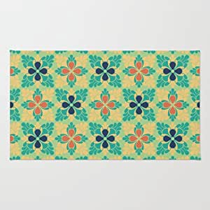 Society6 the bright side floral rug by for Bright floral area rugs