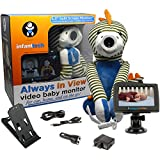 "Infanttech Always in View 4.3"" Video and Audio Baby Monitor (Dinosaur) - The Baby Monitor for Home, Cars and On the Go"
