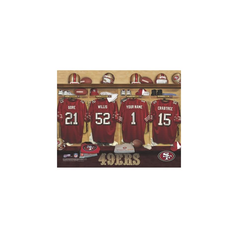 Personalized San Francisco 49ers Locker Room Print