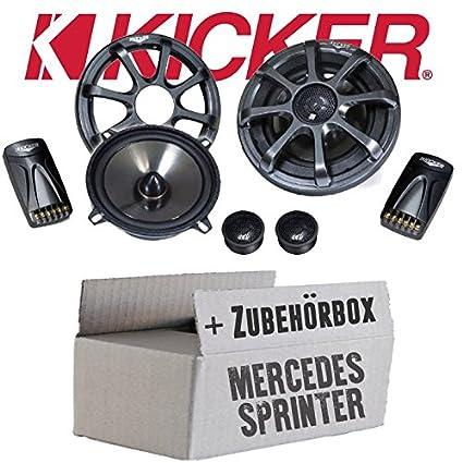 Mercedes Sprinter W906 Front - Kicker KS50.2 - 13cm Lautsprecher Boxen System - Einbauset
