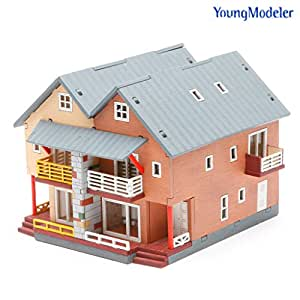 Youngmodeler desktop wooden assembly model for Kit homes duplex