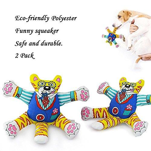 Welltop Carino Squeaker Chew Dog Toys Cat Giocattoli striduli Giocattoli Pet, la resistenza a mordere e non tossico per qualsiasi dimensione di cani e gatti (Confezione da 2)