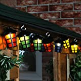 Multi Colour LED Solar Powered Lantern Party String Lights With Timer