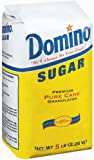 Domino Sugar, Granulated, 5-Pound Bags (Pack of 8)