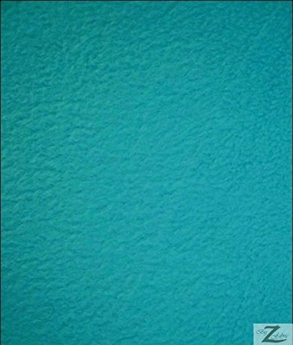 TURQUOISE SOLID POLAR FLEECE ANTI-PILL FABRIC 60
