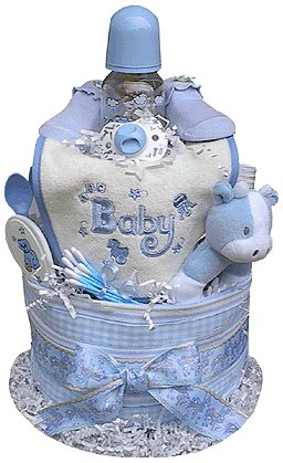 2 Tiered Boy's Diaper Cake
