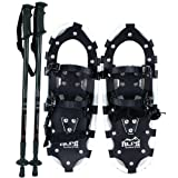 ALPS Adult All Terrian Snowshoes + Pair Anti-Shock Adjustable Snowshoeing Pole + Free... by ALPS Mountaineering