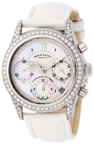 Armand Nicolet Women's 9154L-AN-P915BC8 M03 Classic Automatic Stainless-Steel with Diamonds Watch