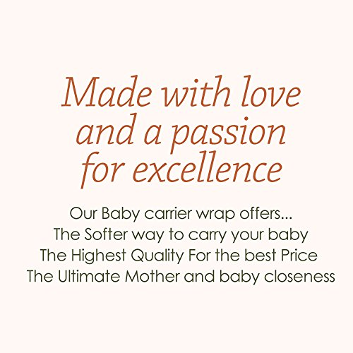 Soft-and-Luxurious-Baby-Carrier-Sling-Wrap-Grey-Best-Baby-Gift-French-Terry-Comfortable-and-Breathable-Breastfeeding-Made-from-Cotton-Modal-Newborns-to-35-Pounds