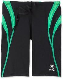 TYR Men's Alliance Durafast Splice Jammer Swim Suit (Black/Green, 30)