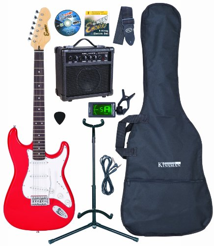 Encore EPB-KC3R Red Electric Guitar Outfit