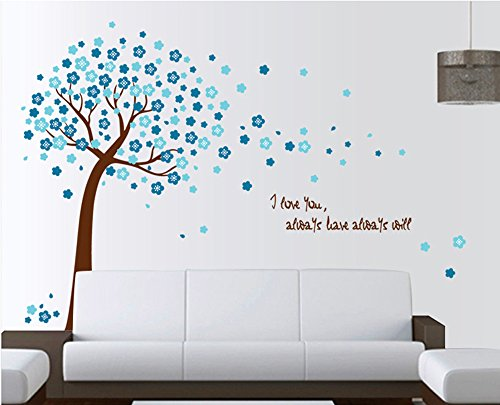 ufengker-romantique-fleur-bleue-arbres-stickers-muraux-salle-de-sejour-chambre-a-coucher-autocollant