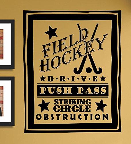 Field Hockey Drive Push Pass Striking Circle Obstruction Vinyl Wall Art Decal Sticker front-892367
