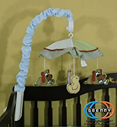 GEENNY Musical Mobile For Farm Field CRIB BEDDING SET