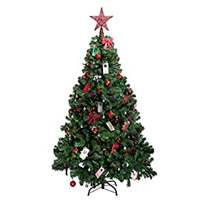 Christmas Tree 6ft 1ft Decorations Selection Baubles Tinsel Stockings Santa Reindeer Deely Boppers