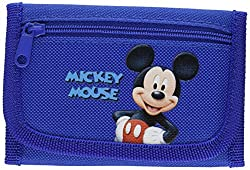 New Disney Mickey Mouse Tri-fold Wallet Gift for Holiday Birthday - Blue