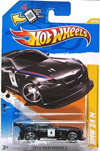 Hot Wheels 2012, BMW Z4 M (BLACK), 2012 new models, 18/247. 1:64 Scale.
