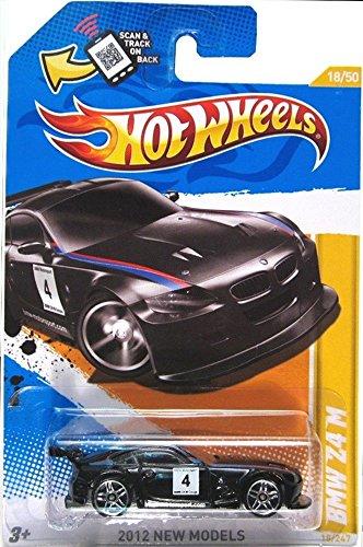 Hot Wheels 2012, BMW Z4 M (BLACK), 2012 new models, 18/247. 1:64 Scale. - 1