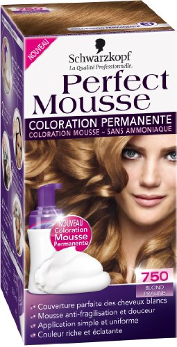 3 schwarzkopf perfect mousse coloration permanente blond praline 750 - Coloration Sans Ammoniaque Schwarzkopf