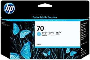 HP 70 Light Cyan 130 Ml Ink Cartridge Use In Selected Hp Designjet Printers.