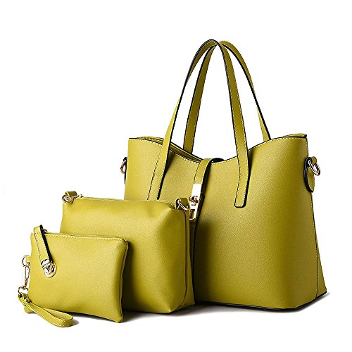 koson-man-womens-3-in-1-pu-leather-sling-vintage-zipper-tote-bags-top-handle-handbagkhaki