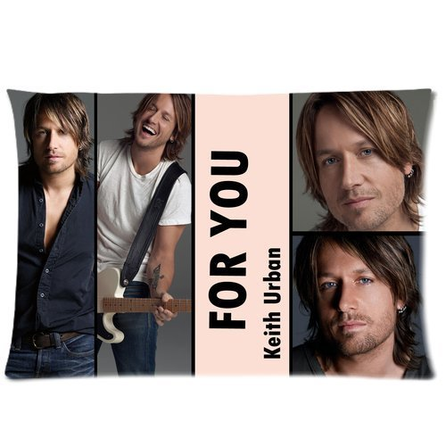 Cartrol Cotton & Polyester Custom Pillowcase- Keith Urban Grammy Best Country Male Singer Photo Album Personalized Roomy Zippered Pillow Case 30X20 (One Side) front-383314