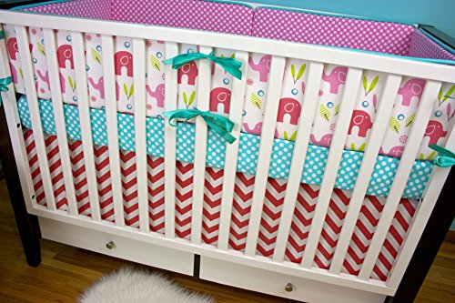 Modified Tot Crib Bedding, Punchy Ele