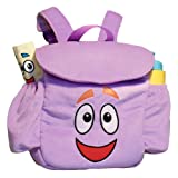 "Dora The Explorer: 13"" Purple Plush Backpack Bag"