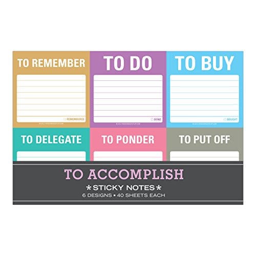 Sticky Note Packet: To Accomplish